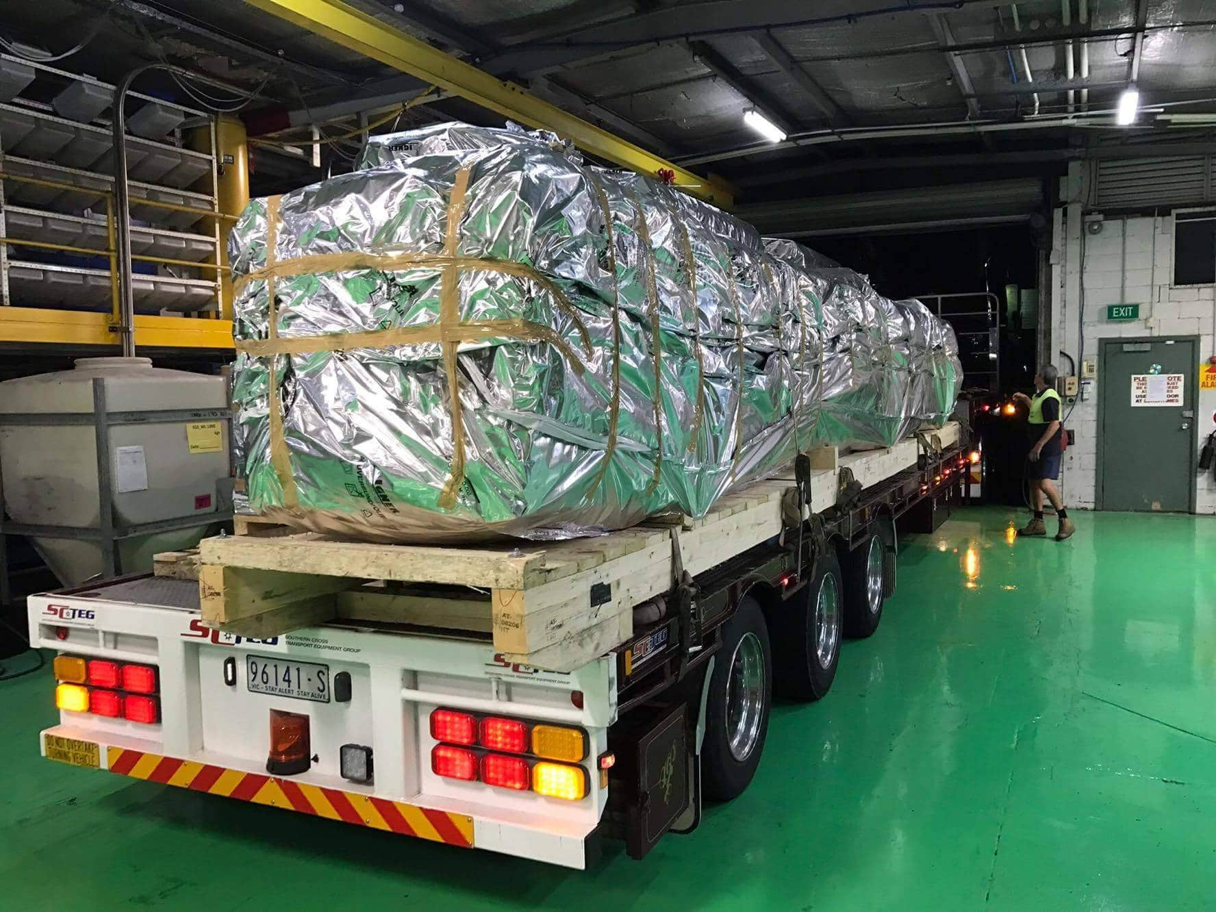 Rhino Solar being delivered to our Mulgrave based manufacturing plant